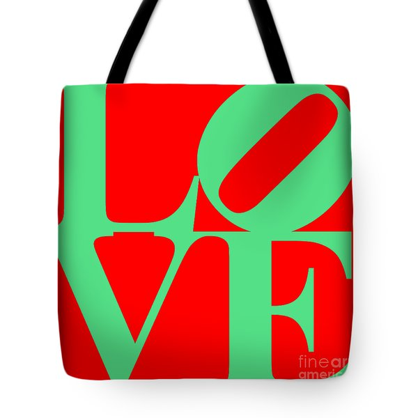 Love 20130707 Green Red Tote Bag by Wingsdomain Art and Photography