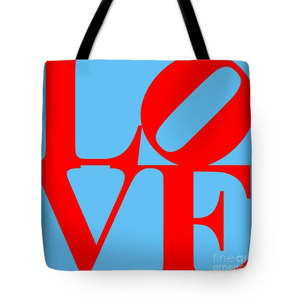 LOVE 20130707 Red Blue Tote Bag by Wingsdomain Art and Photography