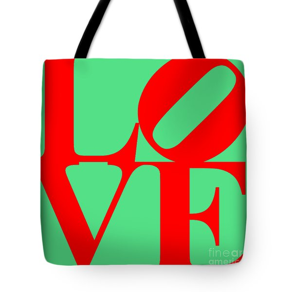 LOVE 20130707 Red Green Tote Bag by Wingsdomain Art and Photography