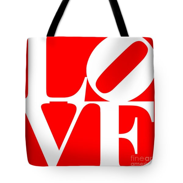 Love 20130707 White Red Tote Bag by Wingsdomain Art and Photography