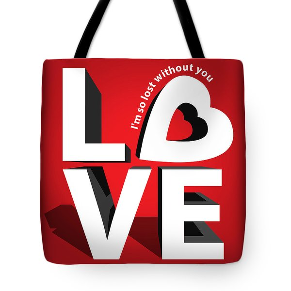 Love 3  Tote Bag by Mark Ashkenazi