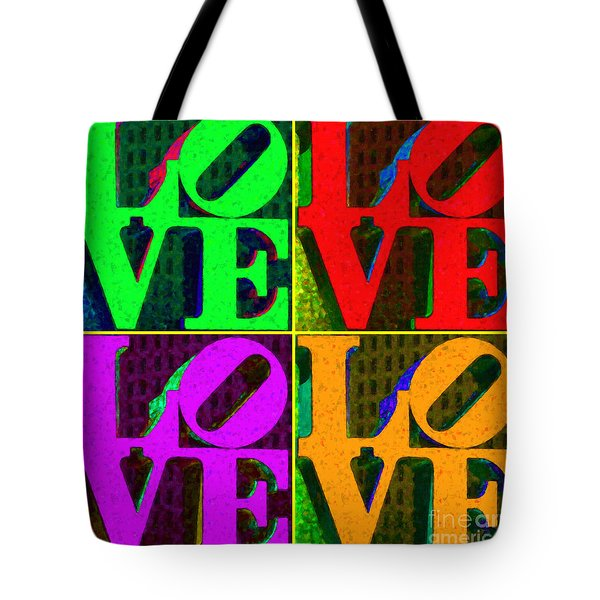 Love 4 Philadelphia - Painterly V4 Tote Bag by Wingsdomain Art and Photography
