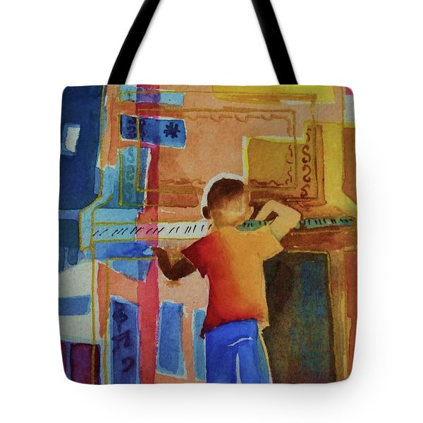 Love A Piano 1 Tote Bag by Marilyn Jacobson