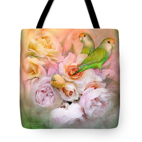 Love Among The Roses Tote Bag by Carol Cavalaris