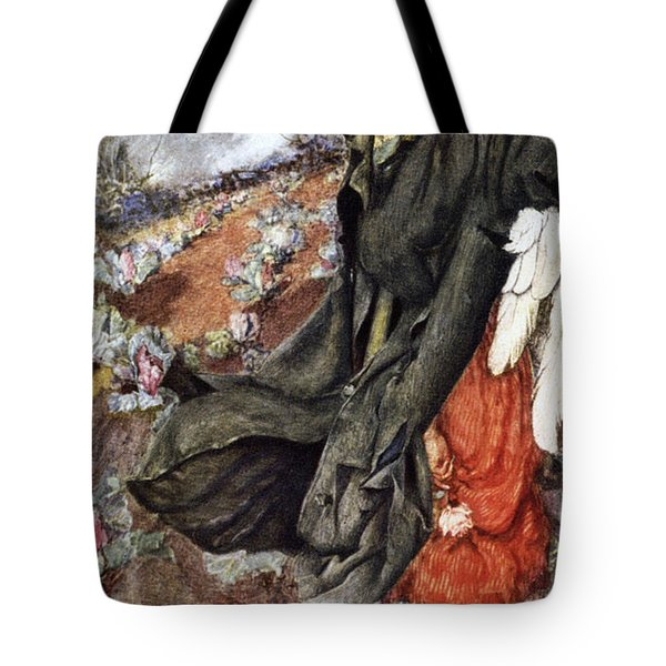 Love And The Scarecrow Tote Bag by Eleanor Fortescue Brickdale