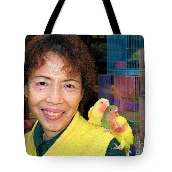 Love Birds Tote Bag by Eva Kaufman