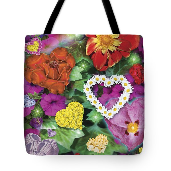 Love Flowers Garden Tote Bag by Alixandra Mullins