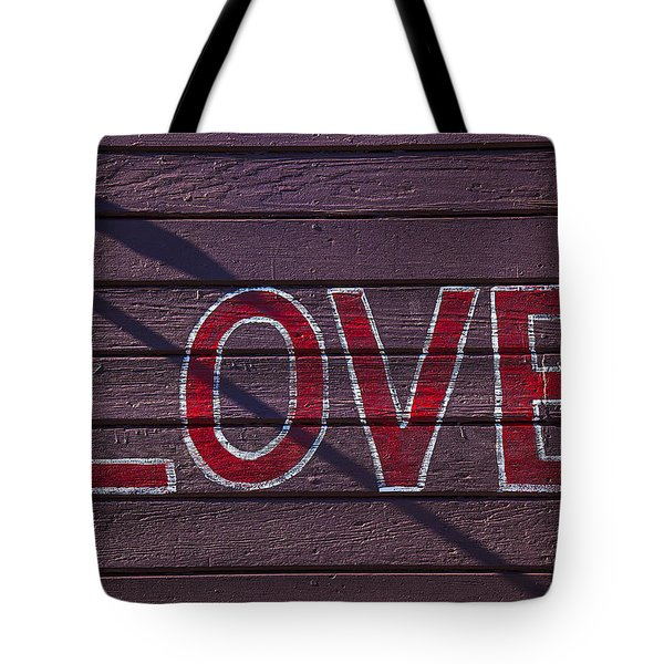 Love Tote Bag by Garry Gay