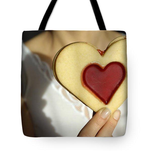 Love Heart Valentine Tote Bag by Matthias Hauser