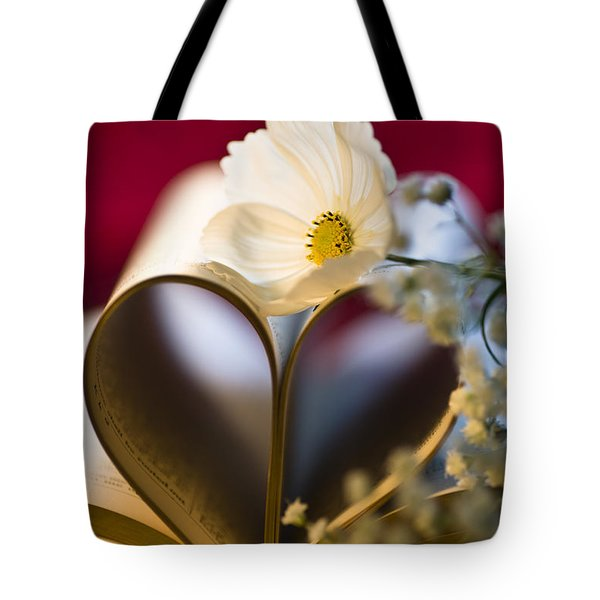 Love is all Around Tote Bag by Jan Bickerton