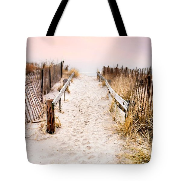 Love Is Everything - Footprints In The Sand Tote Bag by Gary Heller