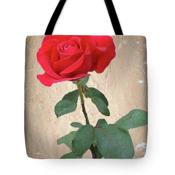Love Is Like A Red Red Rose Tote Bag by Janette Boyd