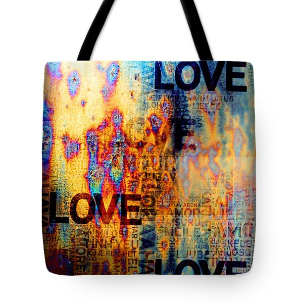 Love Tote Bag by Jenny Rainbow