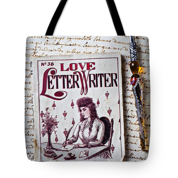 Love letter writer book Tote Bag by Garry Gay