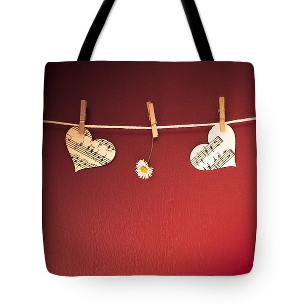 Love On The Line Tote Bag by Jan Bickerton