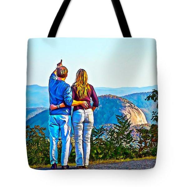 Love On The Rock Tote Bag by John Haldane
