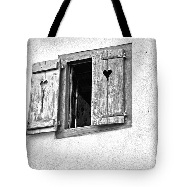 Love Shutters Tote Bag by Nomad Art And  Design