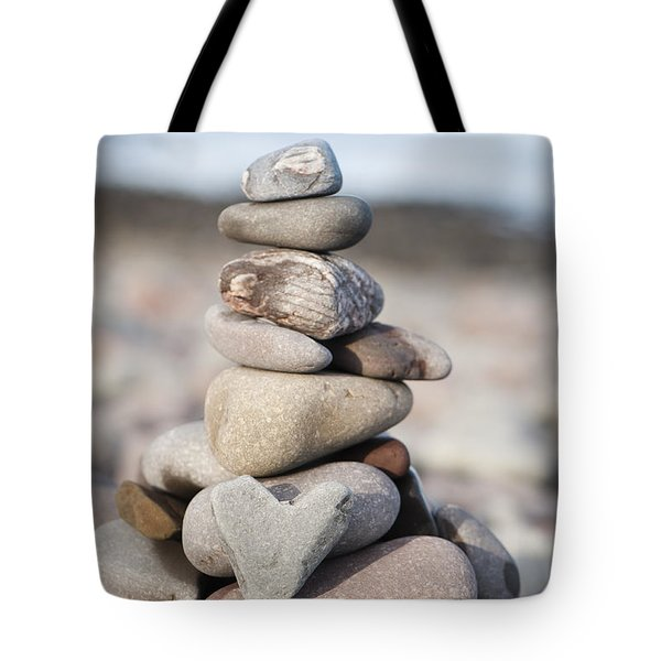 Love Stack Tote Bag by Anne Gilbert