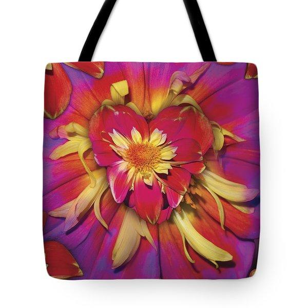 Loveflower Orangered Tote Bag by Alixandra Mullins