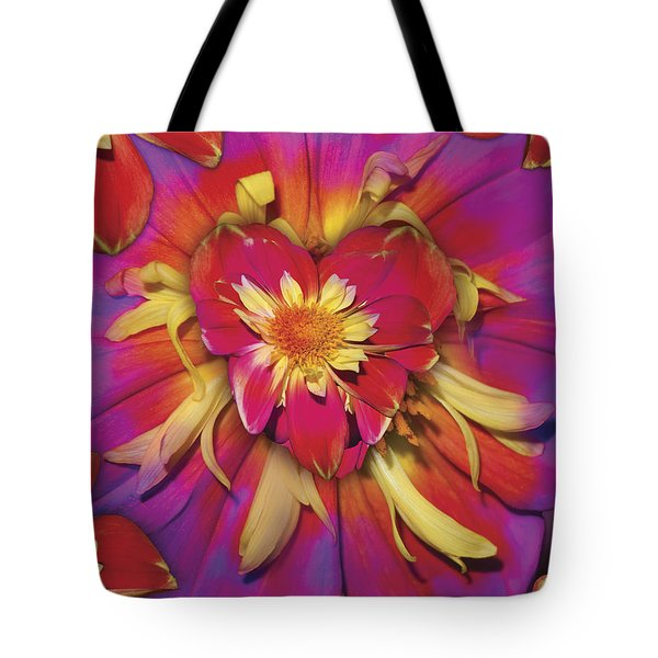 Loveflower Orangered Tote Bag by Alixandra Mullins