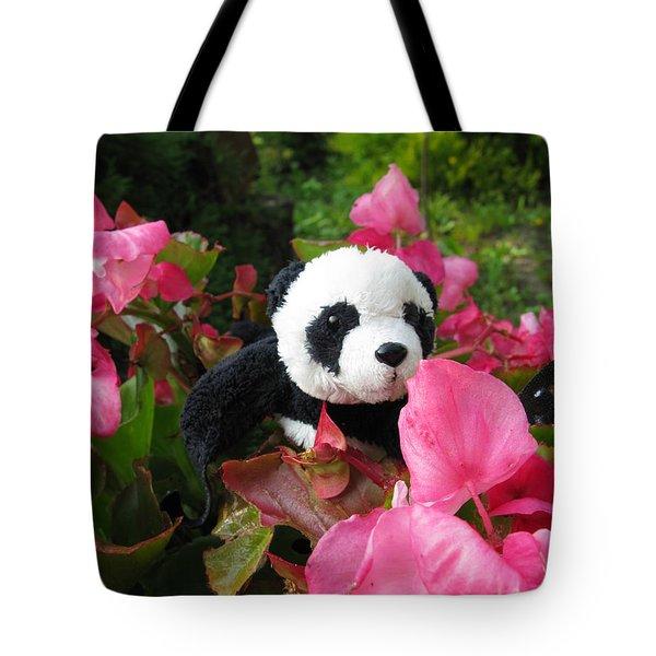 Lovely Pink Flower Tote Bag by Ausra Paulauskaite