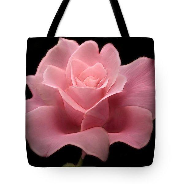 Lovely Pink Rose Tote Bag by Nina Bradica