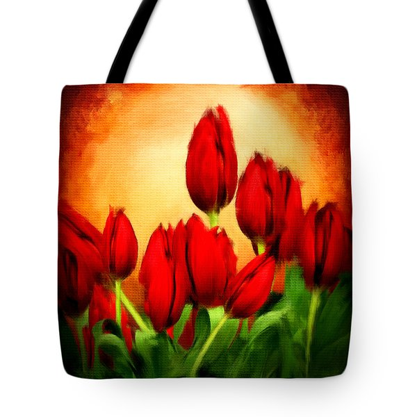 Lover's Hearts Tote Bag by Lourry Legarde