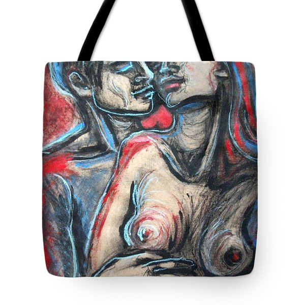 Lovers - In Your Arms Tote Bag by Carmen Tyrrell