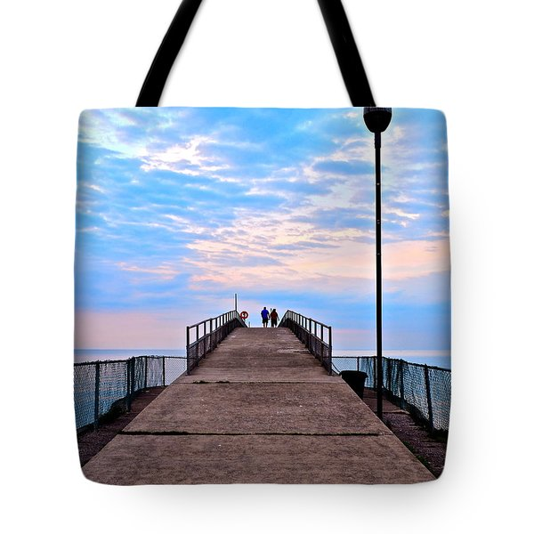 Lovers Lane Tote Bag by Frozen in Time Fine Art Photography