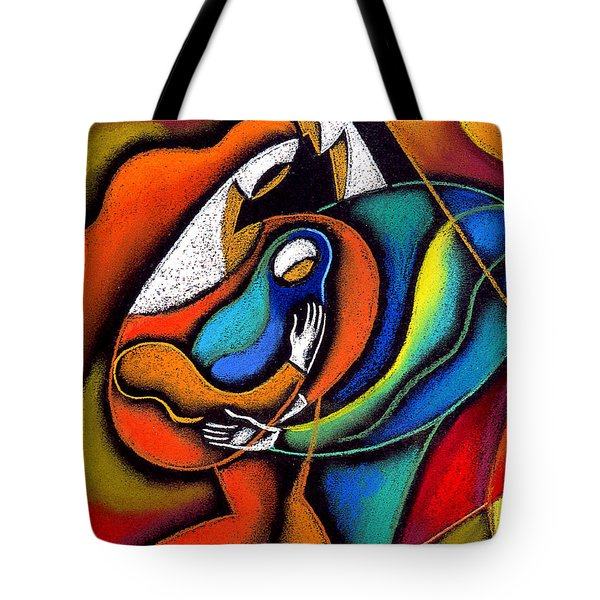Loving family Tote Bag by Leon Zernitsky