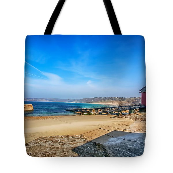 Low Tide At Sennen Cove 2 Tote Bag by Chris Thaxter