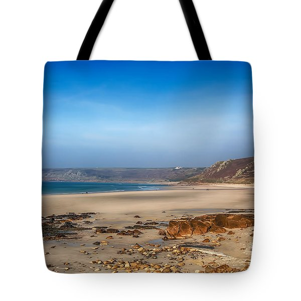 Low Tide At Sennen Cove Tote Bag by Chris Thaxter