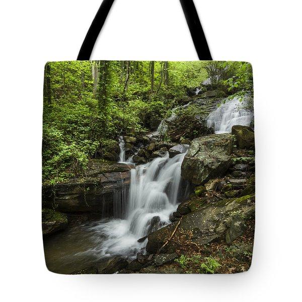Lower Amicalola Falls Tote Bag by Debra and Dave Vanderlaan