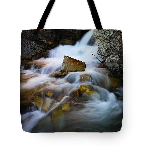 Lower Apikumi Falls Glacier National Park Tote Bag by Jeff Swan