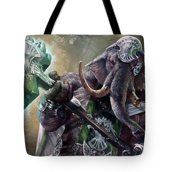 Loxodon Smiter Tote Bag by Ryan Barger