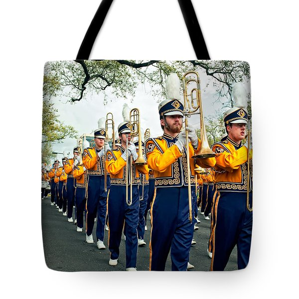 Lsu Marching Band 3 Tote Bag by Steve Harrington