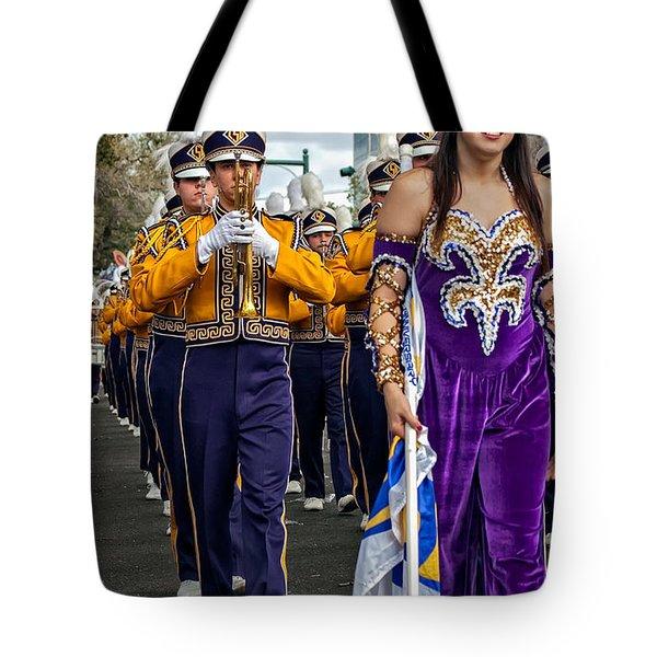 Lsu Marching Band 5 Tote Bag by Steve Harrington