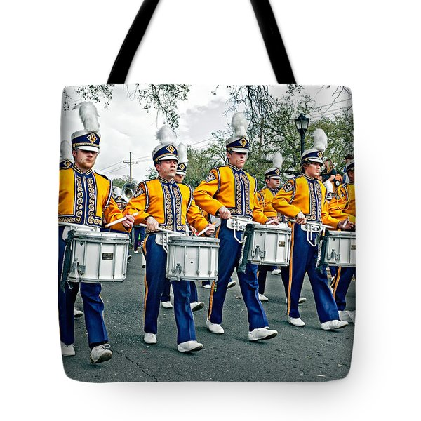 Lsu Marching Band Tote Bag by Steve Harrington