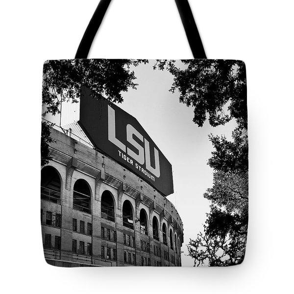Lsu Through The Oaks Tote Bag by Scott Pellegrin