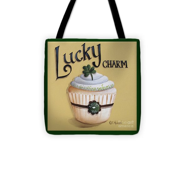 Lucky Charm Cupcake Tote Bag by Catherine Holman