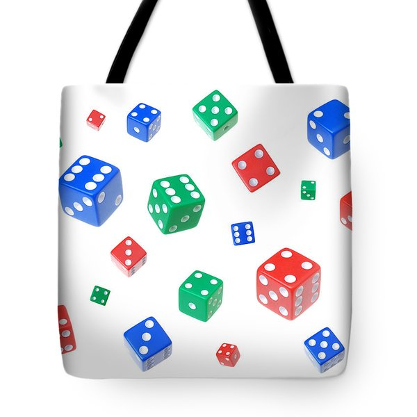 Lucky Dice Tote Bag by Jim Hughes