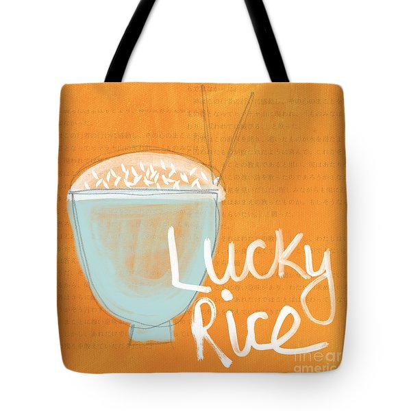 Lucky Rice Tote Bag by Linda Woods