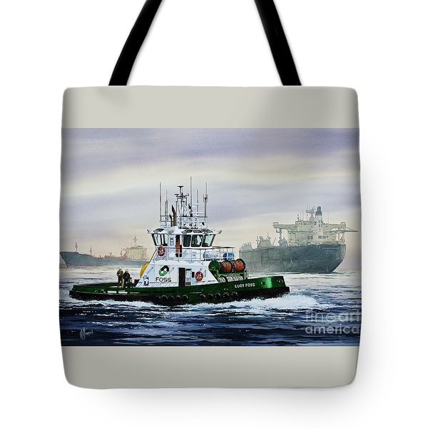 LUCY FOSS Tote Bag by James Williamson