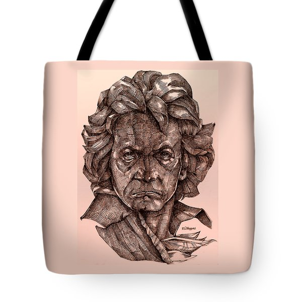 Ludwig Van Beethoven Tote Bag by Derrick Higgins