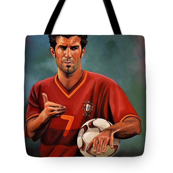 Luis Figo Tote Bag by Paul  Meijering