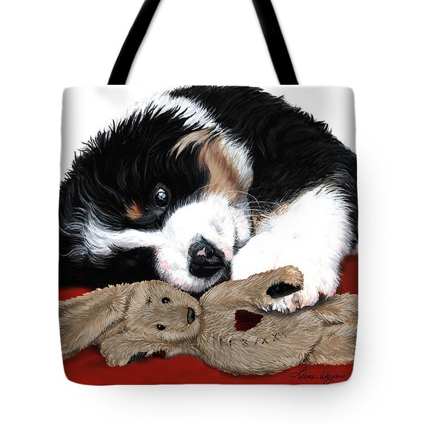 Lullaby Berner and Bunny Tote Bag by Liane Weyers