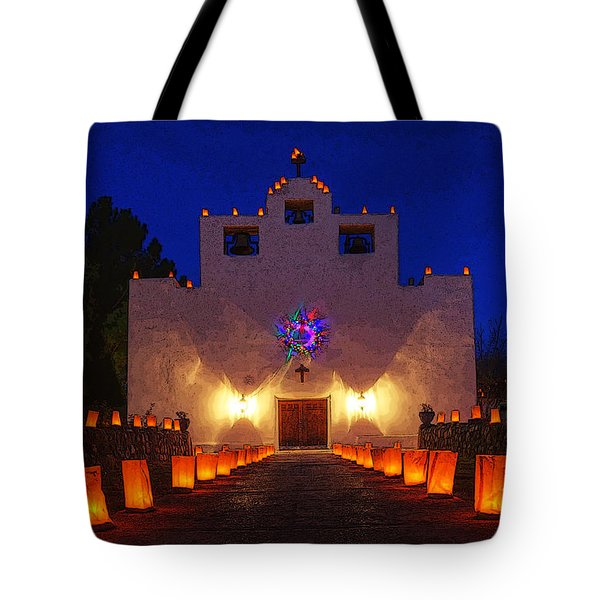 Luminaria Saint Francis De Paula Mission Tote Bag by Bob Christopher