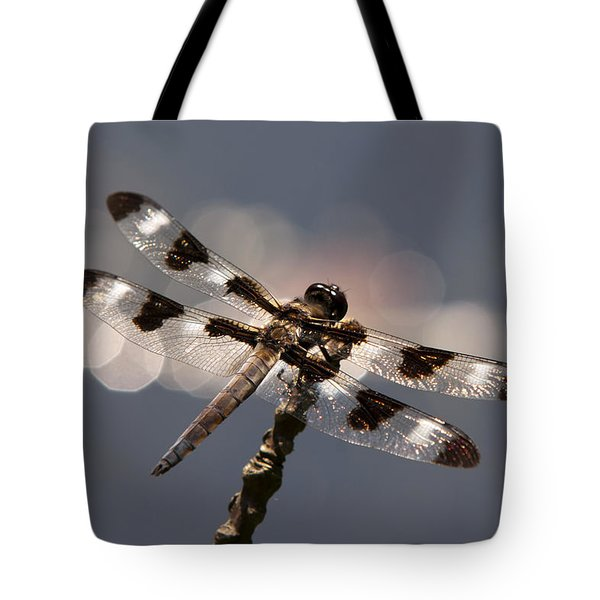 Luminous Dragonfly Tote Bag by Christina Rollo