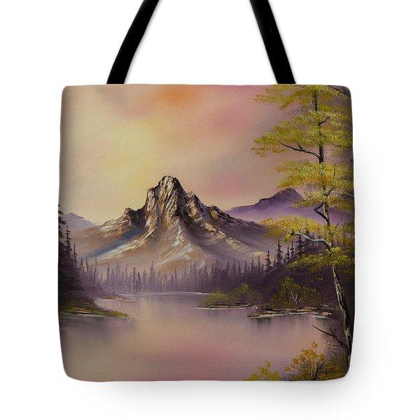 Luminous Lake Tote Bag by C Steele