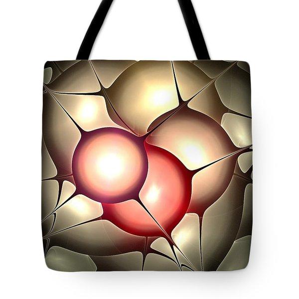 Luminous Orbs Tote Bag by Anastasiya Malakhova